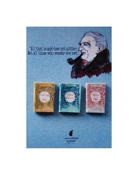 Lord Of The Rings Trilogy J. R. R. Tolkien's Miniature Book Magnets Set by Etsy