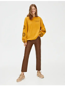 Yellow Sun Print Sweatshirt by Pull & Bear