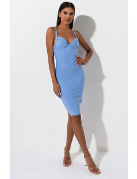 Blue Sky Midi Bandage Dress by Akira