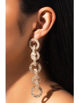 Island Rhinestone Chain Earring by Akira