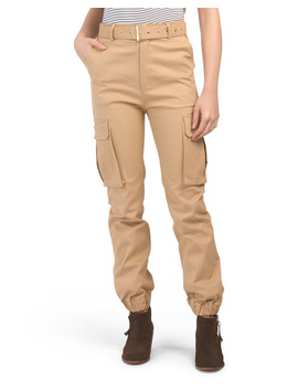 Juniors High Waist Utility Cargo Joggers by Tj Maxx