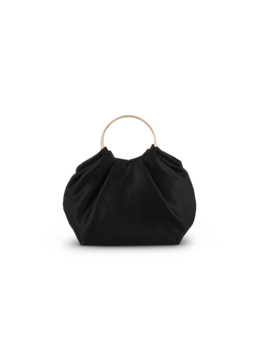 Akasha Black Satin Clutch Bag by Tony Bianco