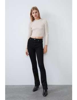 Hi Rise Split Skinny Jeans by Zara