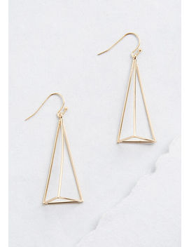 Showing My Good Side Triangle Earrings by Modcloth