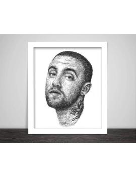 Scribbled Mac Miller by Etsy