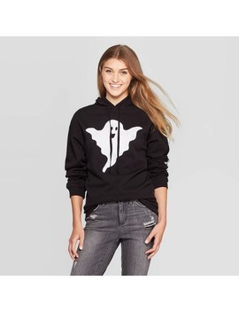 Women's Boo Ghost Pullover Sweater (Juniors')   Black by Modern Lux