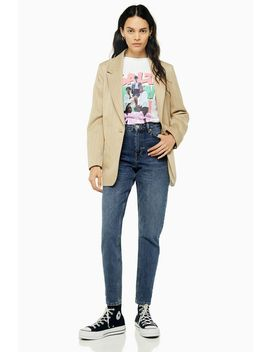 Tall Rich Blue Mom Jeans by Topshop