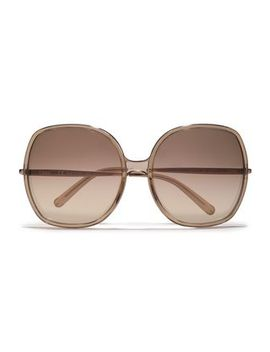 Square Frame Metal And Acetate Sunglasses by ChloÉ