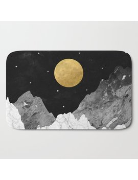 Moon And Stars Bath Mat by Society6