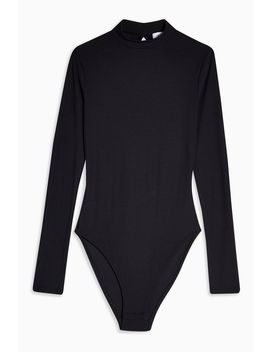 Tall Black Open Back Bodysuit by Topshop