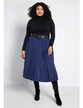 My Kind Of Day Pleated Skirt by Modcloth