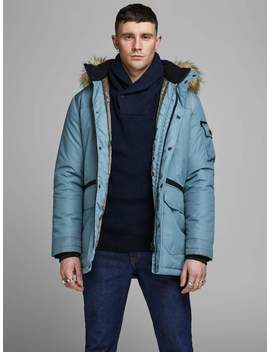 Core Parka With Faux Fur Hood by Jack & Jones