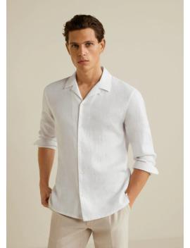 Slim Fit Hemd Aus 100 % Leinen by Mango
