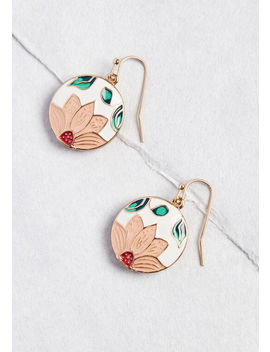 Send Me Flowers Dangle Earrings by Modcloth