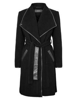 Longline Belted Coat by Vero Moda