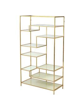 Omni Gold Metal/Glass Bookshelf Omni Gold Metal/Glass Bookshelf by At Home