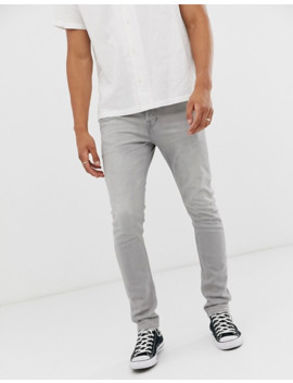 All Saints Cigarette Fit Jeans In Grey Wash by All Saints