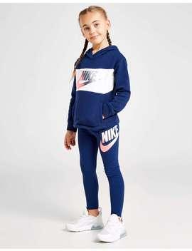 Nike Girls' Shine Overhead Hoodie/Leggings Set Children by Jd Sports