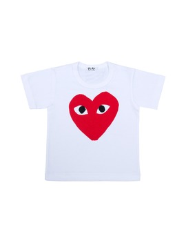 Heart Face Graphic T Shirt by Comme Des GarÇons Play
