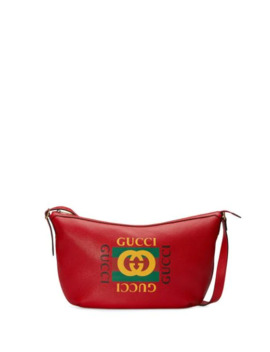 Gucci Print Half Moon Hobo Bag by Gucci
