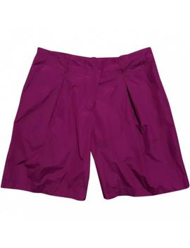 Purple Polyester Shorts by Jil Sander