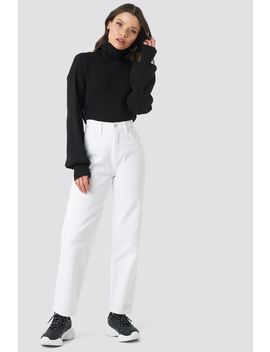 Straight Mom Jeans Vit by Beyyoglu