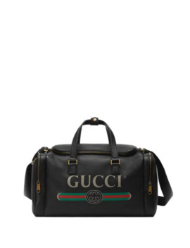 Gucci Print Leather Carry On Duffle by Gucci
