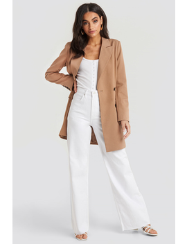 High Rise Wide Leg Jeans Vit by Na Kd Trend