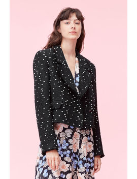 Boucle Dot Tweed Jacket by Rebecca Taylor