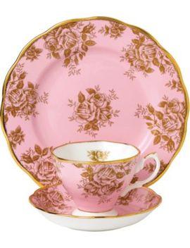 100 Years Golden Roses 3 Piece Tea Set (1960's) by Royal Albert