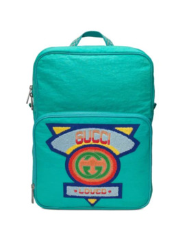 Medium Backpack With Gucci '80s Patch by Gucci