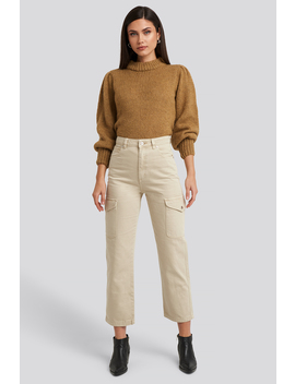 A Venice Straight Jeans Beige by Abrand