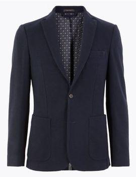 Textured Slim Fit Jacket by Marks & Spencer