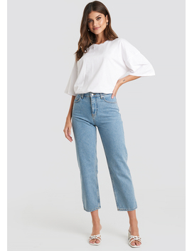 Straight Mom Jeans Blå by Beyyoglu