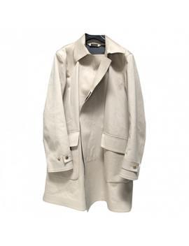 Beige Cotton Coat by Jil Sander
