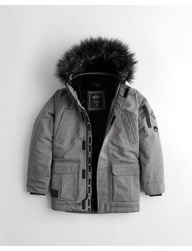 Faux Fur Lined Parka by Hollister