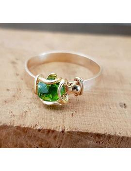 Chrome Diopside Ring, Gold Filled Ring, Teen Girl Ring, Gift For A Teen Girl, Gemstone Ring, Delicate, Minimalistic, Tiny Stackable Ring. by Etsy