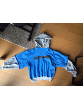 Ss18 Combo Hooded Sweatshirt Grey / Blue by Gosha Rubchinskiy  ×