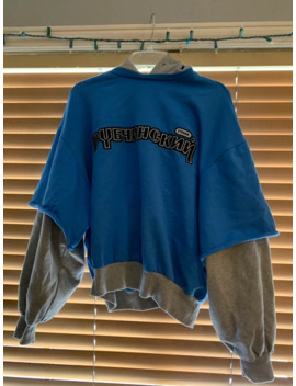 Gosha Double Layered Hoodie Blue by Gosha Rubchinskiy  ×