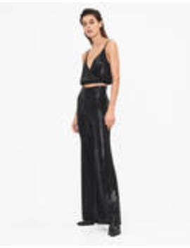 Shimmer Flared Trousers by Bershka