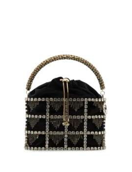 Minerva Crystal Embellished Mini Bag by Rosantica