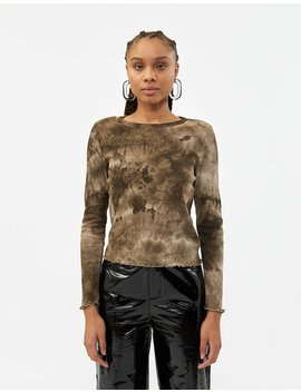 Jessica Tie Dye Top In Brown by Which We Want Which We Want