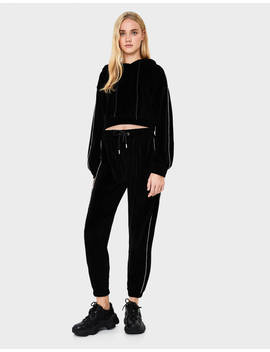 Jogging Trousers With Shimmer Side Stripes  Trousers   Women | Bershka by Bershka