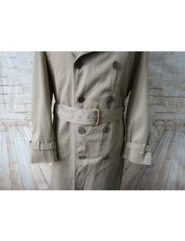 Mens Double Breasted Full Length Trench Coat London Fog Size 42 R / Ref 8058 by Ebay Seller