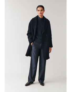 Oversized Wool Mix Coat by Cos