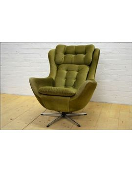 Vintage Egg Armchair Designer Mid Century Danish Design Retro Uk Delivery by Ebay Seller