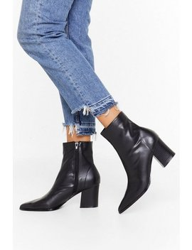 Get 'em While They're Sock Faux Leather Boots by Nasty Gal