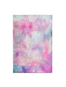 Pink Crushed Velvet Rug by Asda
