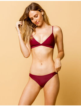Full Tilt Skimpy Berry Bikini Bottoms by Full Tilt