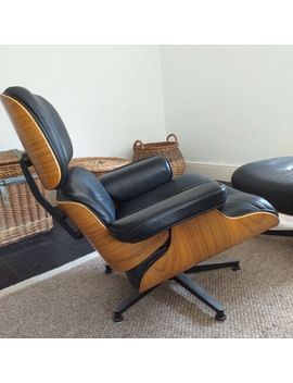Retro Vintage Contemporary Reclining Chair And Ottoman by Ebay Seller